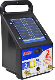 Amazon Com Fi Shock Esp2m Fs 2 Mile Solar Powered Electric Fence Charger Solar Fence Chargers Garden Outdoor