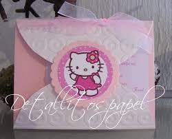 Invitaciones Hello Kitty Bautizo Cumpleanos Presentacion 30