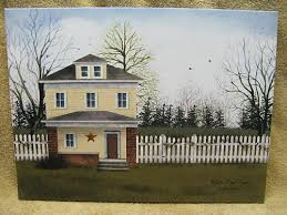Huis White Picket Fence House Home Farm Canvas Wall Decor Billy Jabocs Country Appcoug Org