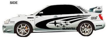 Product Subaru Impreza Wrx Sti Wrc Full Rally Stars Vinyl Decals Kit Any Color Full Size