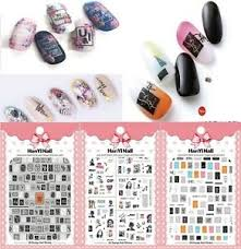 Women Letters Patterns Nails Art Manicure Glue Decal Decorations Design Sticker Ebay
