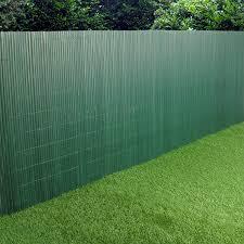 Pvc Garden Fence Plastic Panel Screen Double Faced Green 3m Long 1m Tall Amazon Co Uk Garden Outdoors