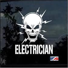 Lineman Decal Electrician Lineman Skull Sticker A3 Custom Sticker Shop