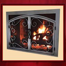 wrought iron fireplace screen door