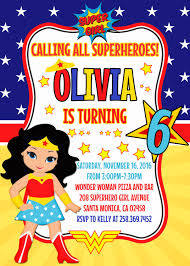 Wonder Woman Invitation Wonder Woman Clipart Birthday Party