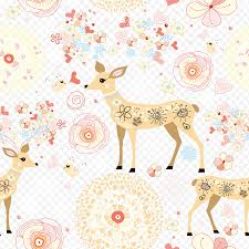 Wall Decal Sticker Adhesive Deer Flowers Animals Decor Poster Sticker Flower Png Nextpng