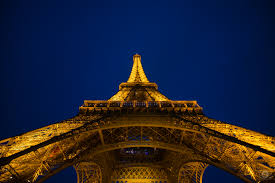 eiffel tower at night paris background