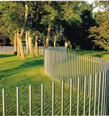 Stainless Steel Post Fence D Reed Fence Outdoor Landscaping Landscape Walls