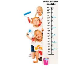 Baby Vinyl Growth Chart Decal Hanging Height Ruler Sticker For Children Kids Room Wall Children S Nursery Decor Loved Beyond Measure 8 Inches X 40 Inches Walmart Com Walmart Com