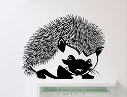 Hedgehog Wall Sticker Animals Vinyl Decal Home Kids Girl Nursery Room Interior Decoration Cool Black Art Mural Wall Sticker Animal Interior Decorvinyl Decal Aliexpress