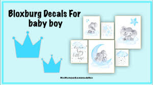 How To Place Wall Decals Bloxburg Baby Boy Pictures Youtube