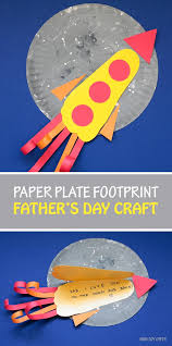 paper plate footprint father s day