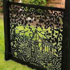 Fence Panel Privacy Screen Water Mill Garden Screen Patio Etsy