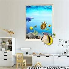 3d Wall Decals Beach Sea Turtles Animals Fauna Turtle Vinyl Decal Sticker Home Decor Design Bathroom Living Room Decoration Diy Wall Stickers Aliexpress