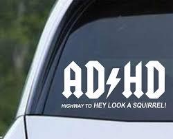 Adhd Hey Look A Squirrel Die Cut Vinyl Decal Sticker Decals City
