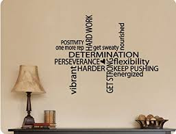 30 X24 Positivity Hard Work Determination Strong Gym Inspiration Drive Collage Wall Decal Sticker Art Mural Home Dzcor Quote Inspiration Home Decor Olivia Decor Decor For Your Home And Office