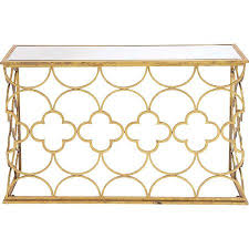 andrea mirrored console table at joss