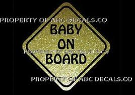 Vrs Baby On Board Sign Child Emergency Vehicle Car Decal Metal Wall Sticker Ebay