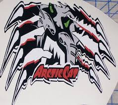 Arctic Cat Claws Ripping Full Color L Trailer 10 X12 Decal Sticker