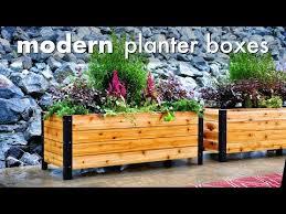 diy modern raised planter box how to