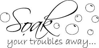 Soak Your Troubles New Bubbles Decor Vinyl Wall Decal Quote Sticker Inspiration Ebay