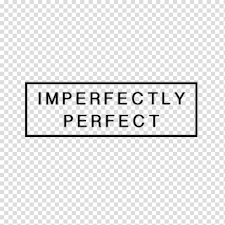 blue background imperfectly perfect text overlay t shirt