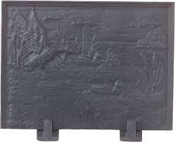 black cast iron duck design fireplace