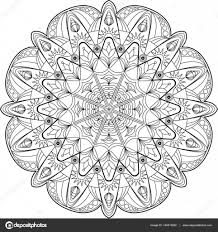 Circle Mandala Adult Coloring Page Stock Vector C Fodorviola73
