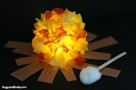 Glowing Campfire Craft For Kids Buggy And Buddy