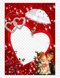 love photo frame png hd clipart