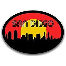 Amazon Com Jjh Inc San Diego California Usa South Coast Travel Vinyl Decal Sticker Waterproof Car Decal Bumper Sticker 5 Kitchen Dining