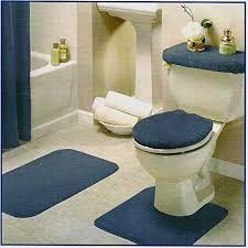 com blue bathroom rug set 4 pc
