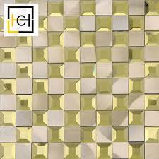 gold color beveled edge mirror tiles
