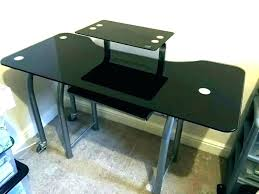 black glass corner desk computer walker