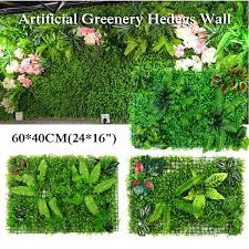 Artificial Topiary Hedges Panels Plastic Faux Shrubs Fence Mat Greenery Wall Backdrop Decor Garden Privacy Screen Fence Lazada Ph
