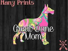 5 Great Dane Mom Dog Love Pet Vinyl Decal Sticker Laptop Yeti Car Cup Macbook Ebay
