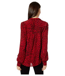 Sanctuary Joni West Shirt (red Leopard) Long Sleeve Button Up - Lyst