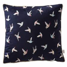 designer bedding hummingbird cushion