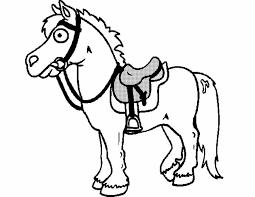 Kleuren Nu Paard Met Zadel Kleurplaten