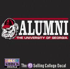 Uga Bulldog Alumni Decal