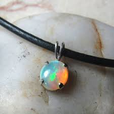 white fire opal 316l surgical steel 16g