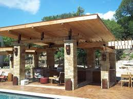wood patio ideas covered budget roof