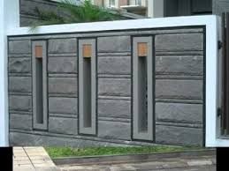 Image Result For Fancy Boundary Wall Design Modern Fence Design Fence Wall Design Front Wall Design