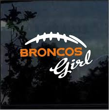 Denver Broncos Girl Window Decal Sticker Custom Sticker Shop