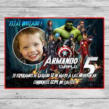Gratis Invitacion De Los Avengers Los Vengadores Fiesta Imprimible