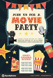Birthday Party Invitation Card Movie Party Hollywood Party