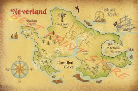 Amazon Com Best Print Store Disney Inspired Peter Pan Neverland Map Poster 18x24 Inches Posters Prints