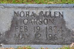 """Lenora Adela """"Nora"""" Allen Carson (1874-1964) - Find A Grave Memorial"""
