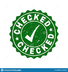 Checked Scratched Stamp With Tick Stock Vector - Illustration of ...