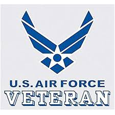 Amazon Com United States Air Force Veteran Logo Car Decal Us Military Gifts Usaf Products Clothing
